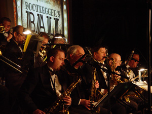 The Just Friends Big Band at the Bootleggers Ball, Nicollet Island, winter 2012